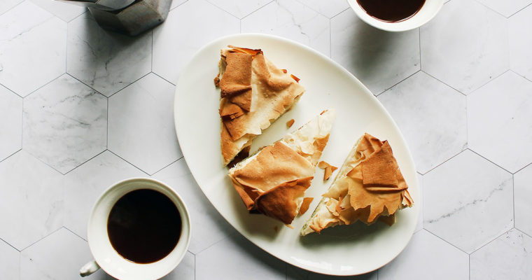 Пиріг зі шпинатом та сиром з тіста філо